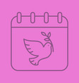 world peace day linear icon vector image