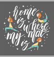 yoga lettering background vector image vector image