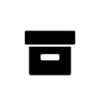 Box Icon Flat vector image