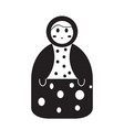 isolated matrioshka toy icon vector image