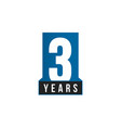3 years anniversary icon birthday logo