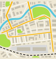 Abstract city map with roads houses parks and a