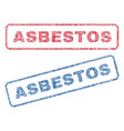 asbestos textile stamps vector image vector image
