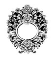 baroque round frame classic rich vector image vector image