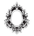 baroque vintage frame decor design element vector image vector image