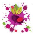 beet vegetable logo watercolor splash design fresh vector image vector image