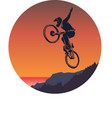 bicycle mtb trick jump vector image vector image