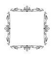 black classic outline frame vector image vector image