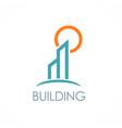 building sun logo vector image