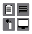 Business and office icons design vector image