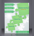 business brochure with elements puzzles vector image vector image