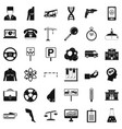 business equipment icons set simple style vector image vector image