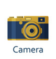 camera isolated on the white background vector image vector image