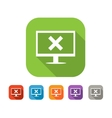 Color set of flat error icon vector image vector image