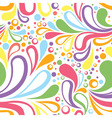 Colorful summer seamless pattern with floral vector image vector image