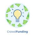 crowdfunding flat idea of vector image vector image