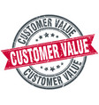 customer value round grunge ribbon stamp vector image vector image