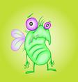 cute unhappy fly vector image
