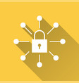 data security - icon for graphic and web vector image vector image