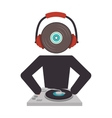 dj avatar silhouette icon vector image vector image