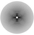edgy jagged circular circle element concentric vector image vector image