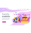 Family tradition concept landing page