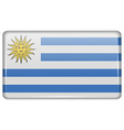 Flags Uruguay in the form of a magnet on vector image vector image