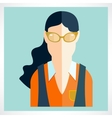 flat woman icons vector image