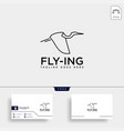 Flying humming bird line art logo template icon
