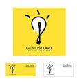 Genius bright idea light bulb logo vector image