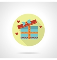 Gift for a lover icon flat round style vector image vector image