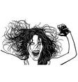 Girl Ecstasy vector image vector image