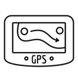 gps device icon outline style vector image vector image
