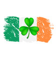 greeting card st patrick vector image vector image