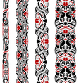 Haida style seamless pattern vector image vector image