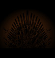 hand drawn iron throne middle ages made vector image vector image