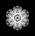 lace snowflake isolated vector image