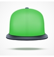 Layout of color rap cap vector image vector image