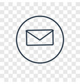 mail concept linear icon isolated on transparent vector image