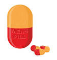 Mens pills Pills for mens health and strength vector image vector image