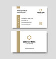 minimalist business card vector image vector image