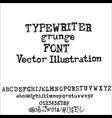 old typewriter font style vintage font vector image