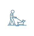 pet care line icon concept pet care flat vector image vector image