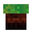 pixelated terrain game icon vector image