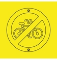 prohibited traffic bike sign round icon design vector image vector image