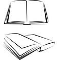 set books vector image