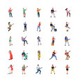 singers and musicians flat characters vector image