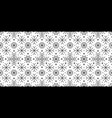 snowflakes patterns vector image vector image