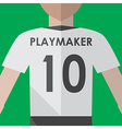 Soccer playmaker number10 vector image vector image