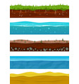 soil layers game ground surfaces with land vector image vector image